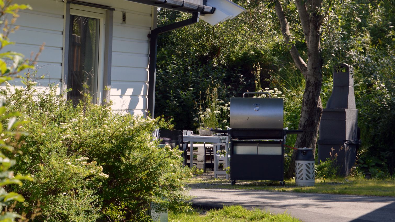 Garnveien bofellesskap - grill i hagen