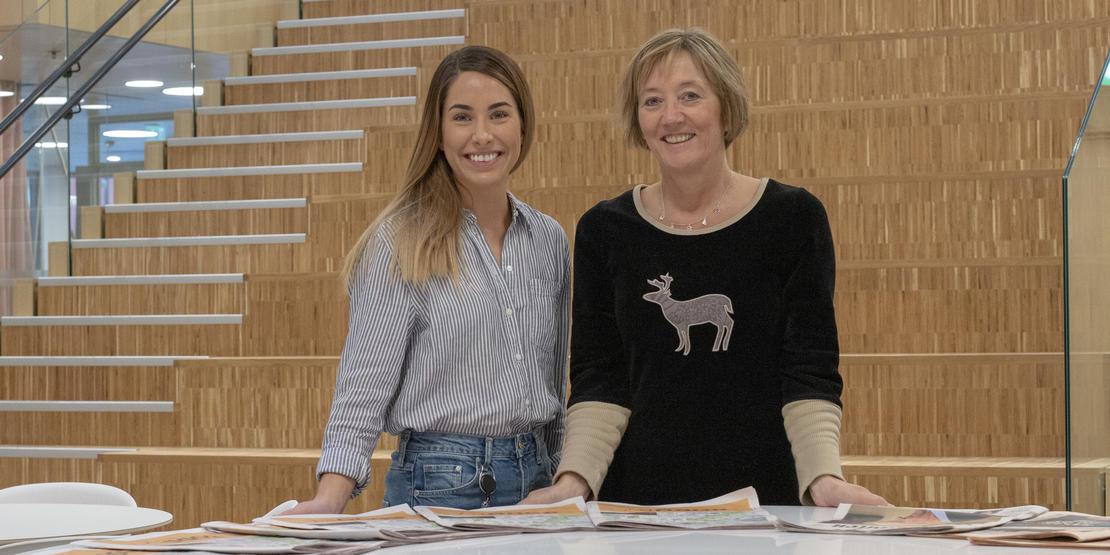Prosjektleder for Invest in Bodø Karoline Nilssen og prosjektsjef for Ny by – ny flyplass, Irene Skiri i Bodø kommune.