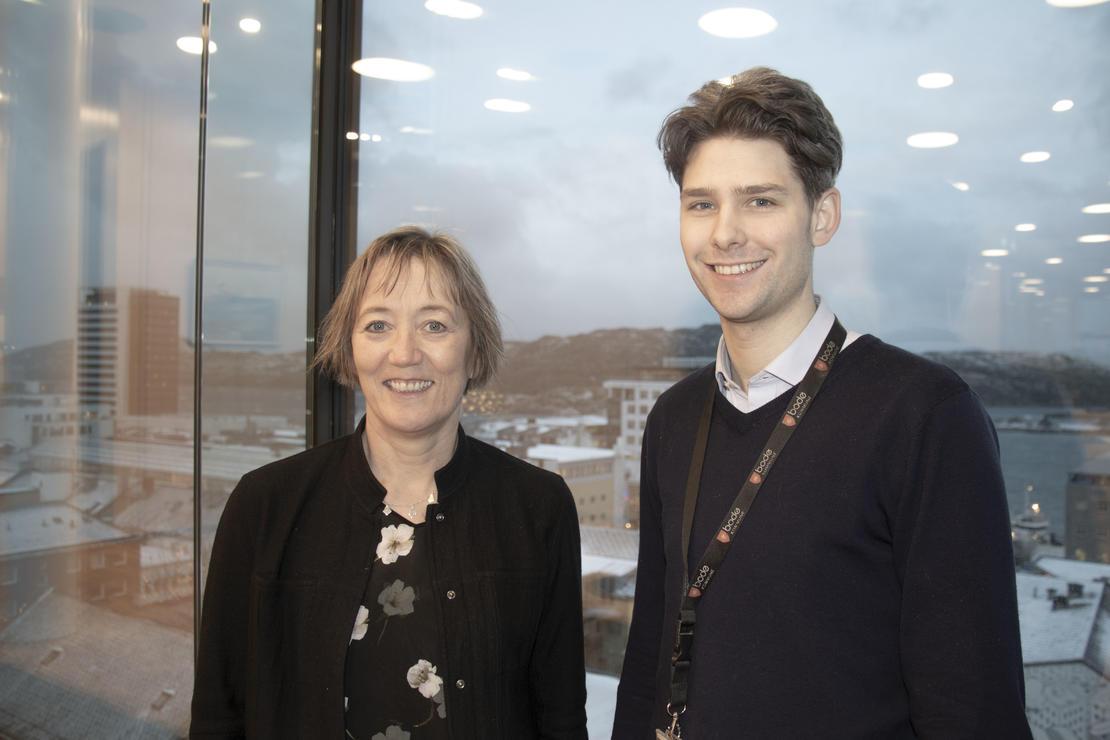 Irene og Kristoffer er klar for å starte planlegging av Ny bydel i Bodø