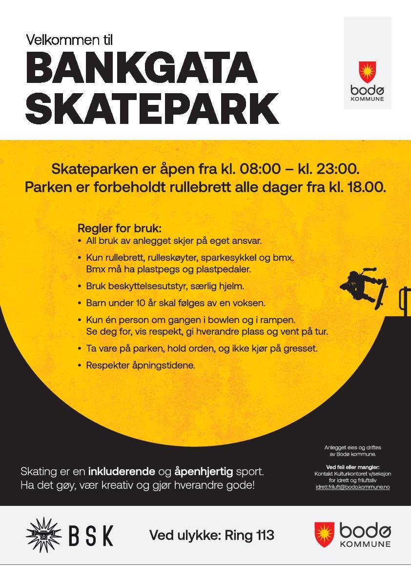 Reglement Bankgata skatepark