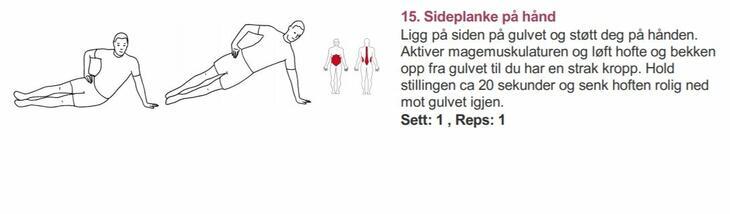 Sideplanke - Alfabet styrketrening