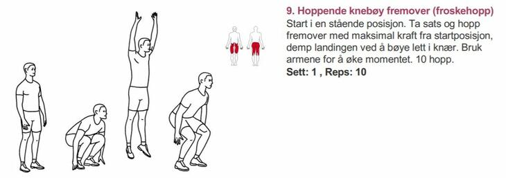 Froskehopp - Alfabet styrketrening