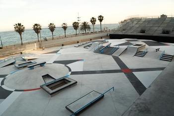 Illustrasjon skatepark